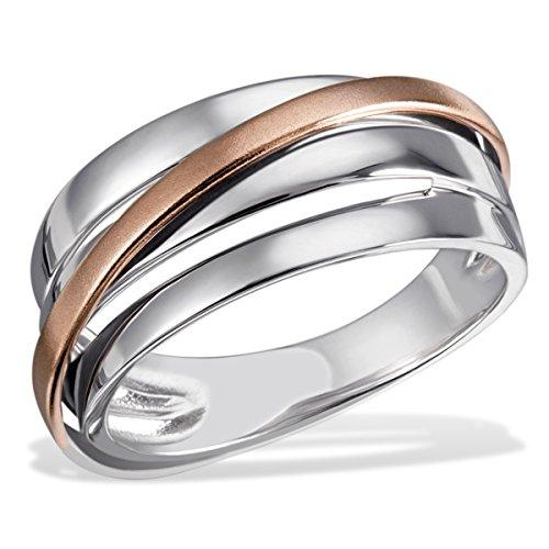 Goldmaid Damen-Ring Goldfarbspiel 925 Silber teilvergoldet Gr. 60 (19.1) - Fo R6934S60