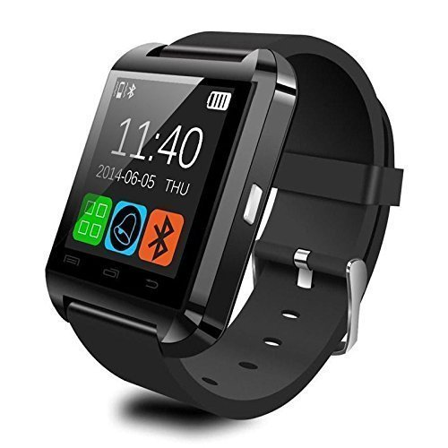 Highdas U8 Smartwatch Bluetooth fitness Smart uhr watch with Touch Screen Hands free hände frei Höhenmesser für SmartphonesIOS iPhone4/4s/5/5s/5c/6/6s/6plus Android Samsung S2/S3/S4/Note 2/Note 3 HTC LG HUAWEI Schwarz