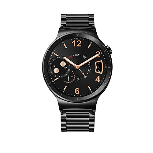 Huawei Watch Active mit Gliederarmband in schwarz