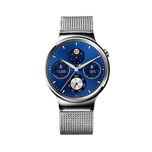 Huawei Watch mit Netzarmband in silber