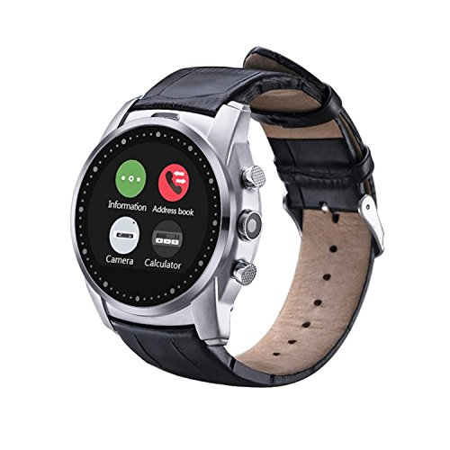 IP66 Wasserdicht Smart Watch Bluetooth 4.0 Handyuhr 1,22 Zoll Touch Screen SIM Card Smartwatch Watch Phone für Android und IOS Samsung Galaxy HTC One Sony iPhone