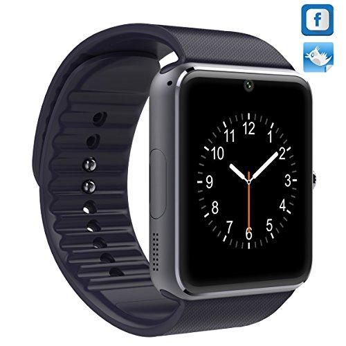 IPEKOO GT08 Bluetooth Smart Watch für Samsung HTC Android-Telefon mit Kamera SIM Facebook und Twitter (Schwarz) - Nicht für Iphone