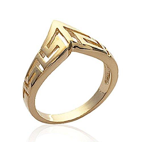 ISADY - Adaleiz Gold - Damen-Ring - 18 Karat (750) Gelbgold platiert - T 64 (20.4)