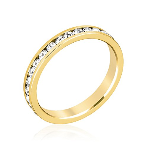 ISADY - Claire Gold - Damen-Ring - alliance - 585er Gelbgold platiert - Zirkonium Transparent - T 62 (19.7)