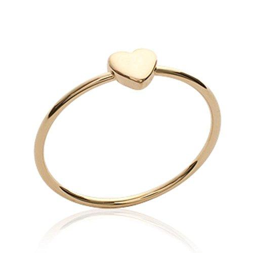 ISADY - Eula Gold - Damen-Ring - 18 Karat (750) Gelbgold platiert - Herzen - T 60 (19.1)
