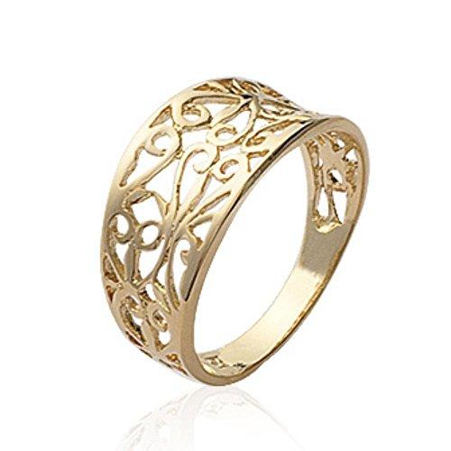 ISADY - Nelina Gold - Damen-Ring - 18 Karat (750) Gelbgold platiert - T 62 (19.7)