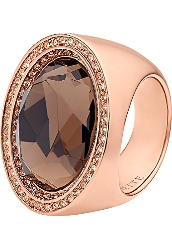 JETTE Magic Passion Damen-Ring Catch the World Metall 1 Kristall 82 Zirkonia rosé/braun, 59 (18.8)