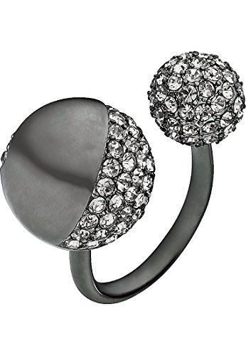 JETTE Magic Passion Damen-Ring Sun kisses moon Metall 149 Zirkonia schwarz, 59 (18.8)