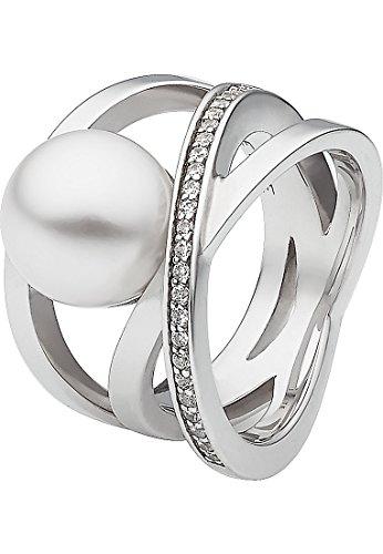 JETTE Silver Damen-Ring 925er Silber 24 Zirkonia silber, 61 (19.4)
