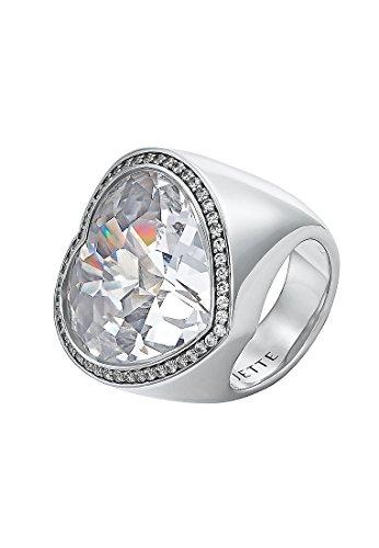 JETTE Silver Damen-Ring 925er Silber 47 Zirkonia 1 Kristall silber, 53 (16.9)