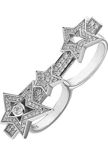 JETTE Silver Damen-Ring 925er Silber 91 Zirkonia silber, 57 (18.1)