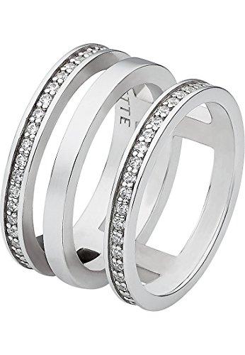 JETTE Silver Damen-Ring 925er Silber 92 Zirkonia silber, 53 (16.9)