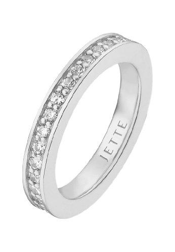 JETTE Silver Damen-Ring 925er Silber rhodiniert 34 Zirkonia silber, 57 (18.1)
