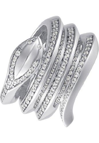 JETTE Silver Damen-Ring PARADISE 925er Silber 73 Zirkonia silber, 53 (16.9)