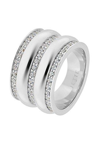 JETTE Silver Damen-Ring Silber 108 Zirkonia silber, 61 (19.4)