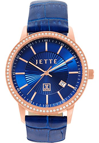 JETTE Time Damen-Armbanduhr Analog Quarz One Size, blau, blau