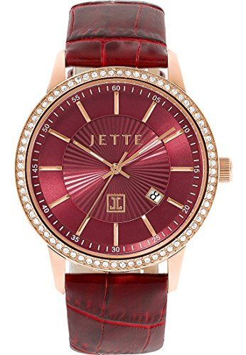JETTE Time Damen-Armbanduhr Analog Quarz One Size, rot, rot