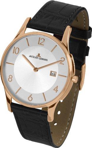 Jacques Lemans Unisex-Armbanduhr London Analog Quarz Leder 1-1777P