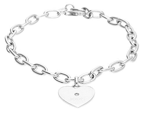 Joop Damen Armband 925 Sterling Silber Zirkonia Paladin 21.5 cm weiß JPBR90373A215