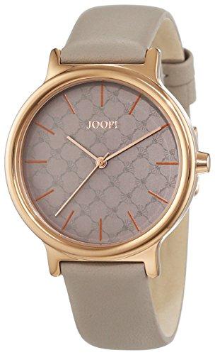 Joop! Damen-Armbanduhr Logo Signature Analog Quarz Leder JP101512004