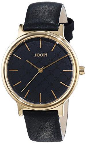 Joop! Damen-Armbanduhr Logo Signature Analog Quarz Leder JP101512005