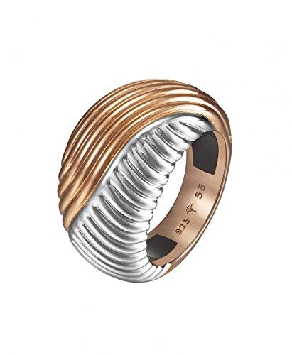 Joop Damen Fingerring Edelstahl Silber Waves JPRG10609A, Ringgröße:57 (18.1)