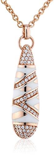Joop Damen Halskette 925 Sterling Silber Harz Zirkonia Stripes 48.0 cm weiß JPNL90703C420