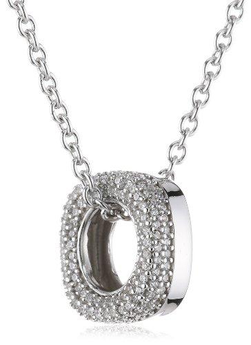 Joop Damen-Halskette 925 Sterling Silber Jane Zirkonia-Pavée weiÃY 48 cm (45 + 3 cm) JPNL90605A450