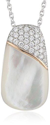Joop Damen Halskette 925 Sterling Silber Perlmutt Zirkonia Lily 48.0 cm weiß JPNL90684A420