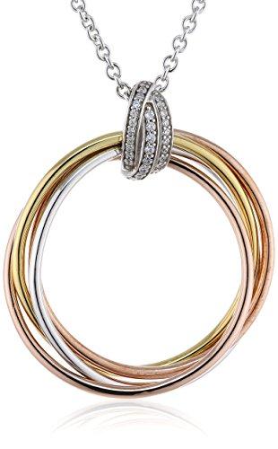 Joop Damen Halskette 925 Sterling Silber Zirkonia Embrace 70.0 cm weiß JPNL90693B450
