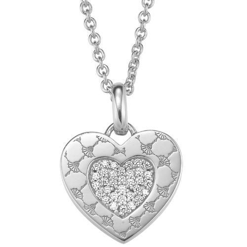 Joop Damen Halskette 925 Sterling Silber Zirkonia Paladin 48.0 cm weiß JPNL90698A420