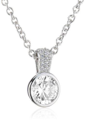 Joop Damen-Halskette Meryl Zirkonia-Solitär Zirkonia-Pavée weiÃY 925 Sterling Silber ca. 47 cm (42 + 5cm) JPNL90608A420