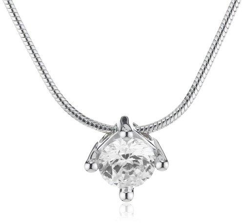 Joop! Damen-Halskette mit weiÃYen runden Zirkonia 42cm JONL90018A420