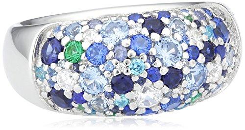 Joop Damen-Ring 925 Silber Zirkonia Rundschliff blau Gr. 55 (17.5) - JPRG90499F550