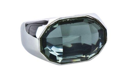 Joop Damen-Ring 925 Silber Zirkonia Rundschliff grau Gr. 55 (17.5) - JPRG90440B550