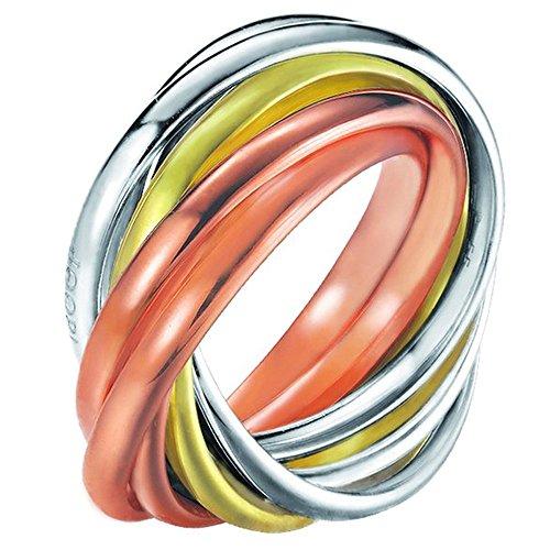 Joop! Damen-Ring 925 Silber teilvergoldet Gr. 53 (16.9) - JPRG90682D530