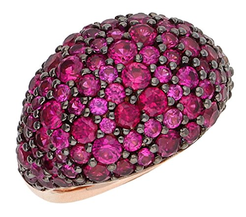 Joop! Damen-Ring 925 Silber teilvergoldet Zirkonia pink Gr. 55 (17.5) - JPRG90780C550