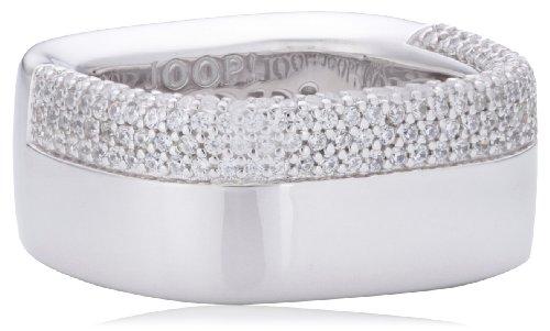 Joop Damen-Ring 925 Sterling Silber Jane Zirkonia-Pavée weiÃY Gr. 55 (17.5) JPRG90623A550