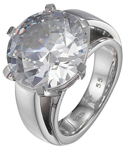 Joop Damen-Ring 925 Sterling Silber rhodiniert Kristall Zirkonia Eva weiß Gr.55 (17.5) JPRG90469A550
