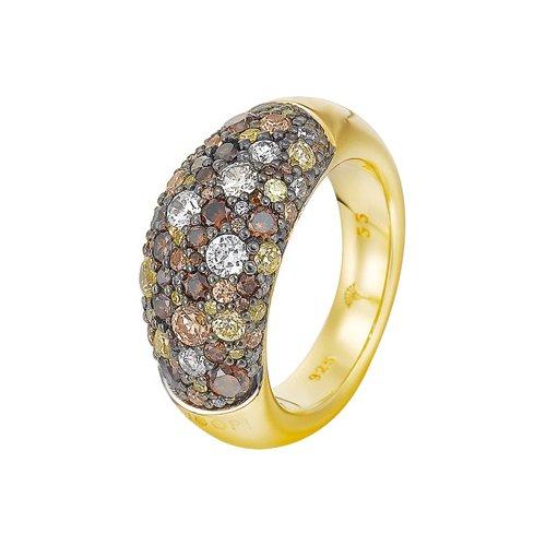 Joop Damen-Ring 925 Sterling Silber rhodiniert Kristall Zirkonia Extreme Pavée mehrfarbig Gr.55 (17.5) JPRG90499C550