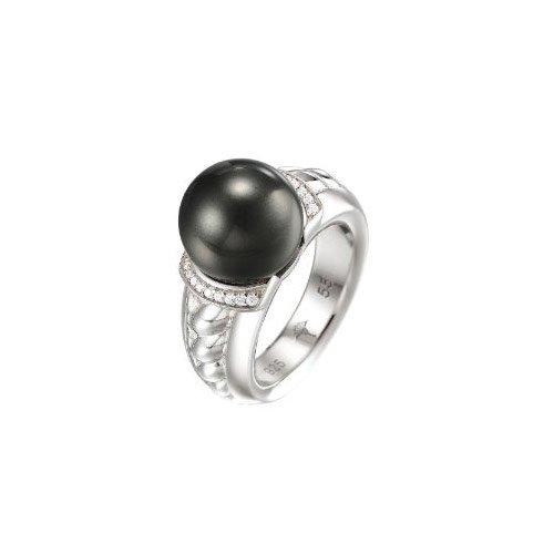 Joop Damen-Ring 925 Sterling Silber rhodiniert Kristall Zirkonia Natalie weiß Gr.55 (17.5) JPRG90494A550