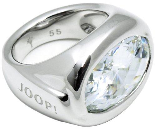 Joop Damen-Ring 925 Sterling Silber rhodiniert Kristall Zirkonia blau Gr.53 (16.9) JPRG90380A530