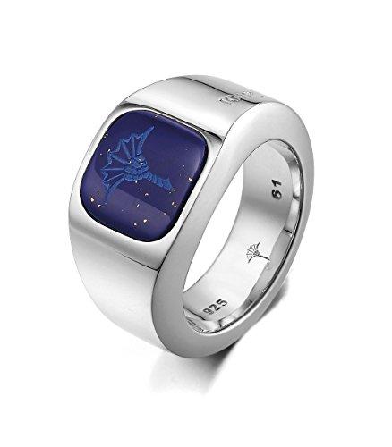 Joop Damen-Ring 925 Sterling Silber rhodiniert Lapis Lazuli blau Gr.61 (19.4) JPRG90576C610