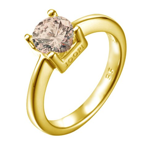 Joop Damen-Ring 925 Sterling Silber rhodiniert Rauchquarz Hilary braun Gr.55 (17.5) JPRG90053F550