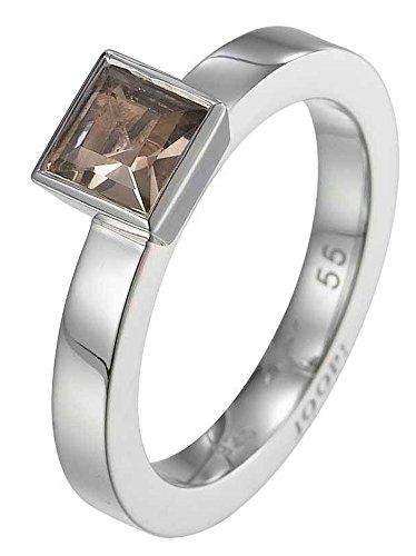 Joop Damen-Ring 925 Sterling Silber rhodiniert Rauchquarz Kate braun Gr.55 (17.5) JPRG90495B550