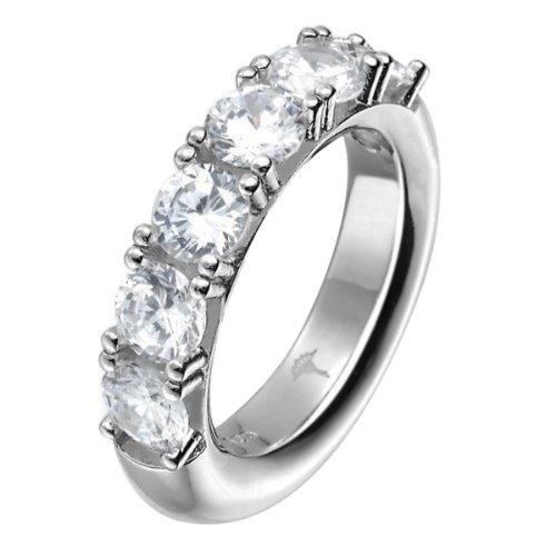 Joop Damen-Ring Angelina Zirkonia weiÃY 925 Sterling Silber Gr. 55 (17.5) JPRG90548A550