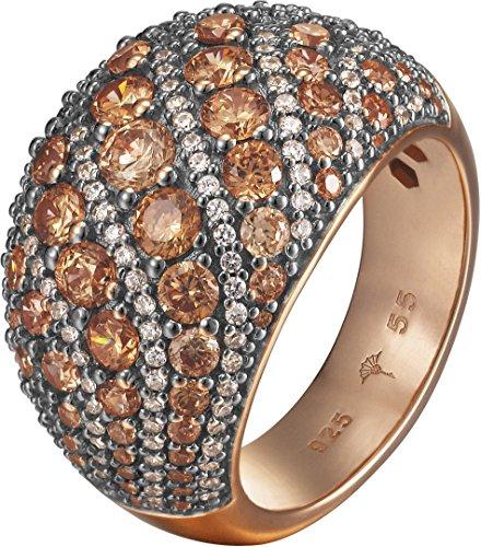 Joop Damen-Ring EXTREME PAVÈE 925 Silber Zirkonia beige Gr. 59 (18.8) - JPRG90763C590