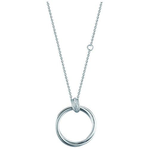 Joop EMBRACE Halskette inkl. Anhänger Silber mit weißen Zirkonia JPNL90693A450
