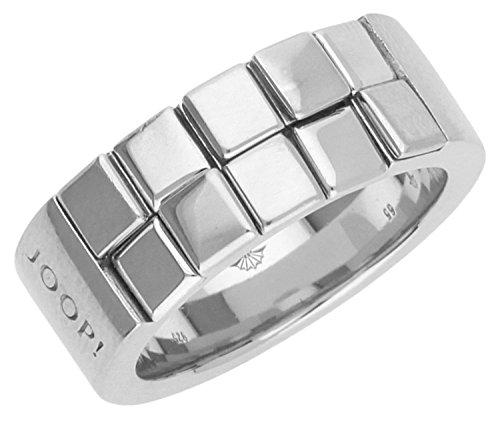 Joop Herren Fingerring Silber Silber Squares JPRG90556A, Ringgroesse:65 (20.7)