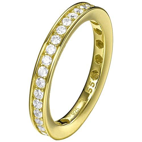 Joop TAYLOR Ring Silber vergoldet mit weißen Zirkona RG 56 JPRG90788B180